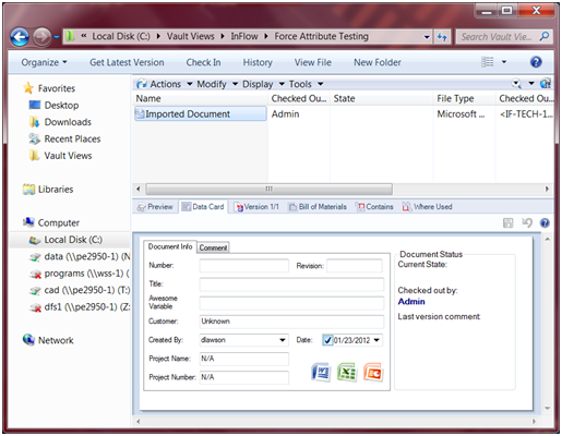 Linking Your SolidWorks PDM Enterprise Data Card Values to