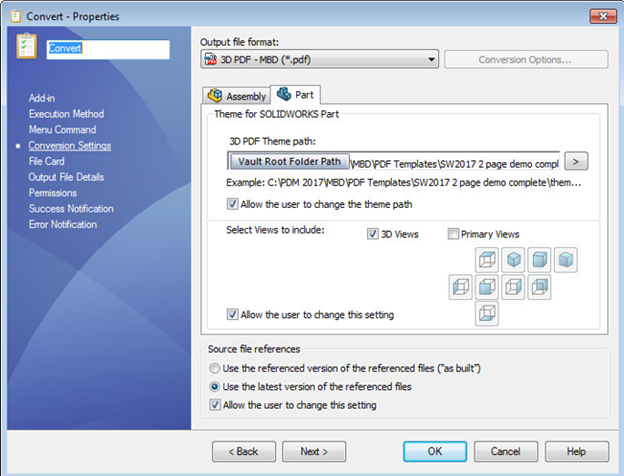 SOLIDWORKS 2017 What's New - PDM Task Enhancements: Generate MBD
